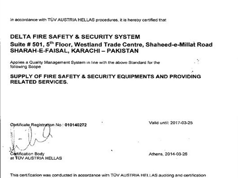 Member Ship Delta Fire Safety Security Systems